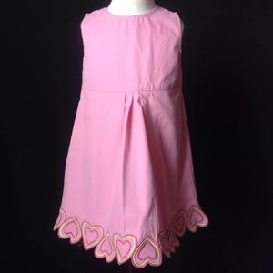 Gymboree Sweetheart Pink Dress EUC 3T